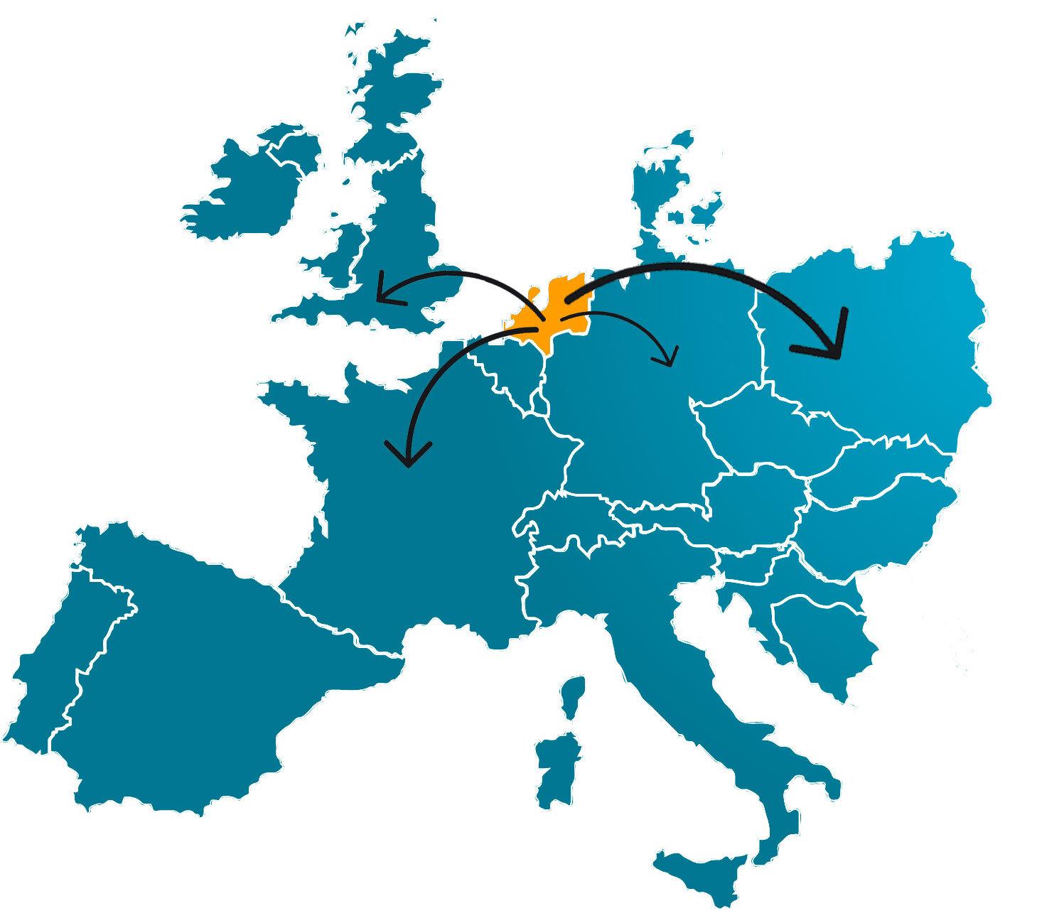 amazon lange afstandsverkopen op kaart
